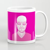 walter white Mugs featuring Walter White by Ron Chan