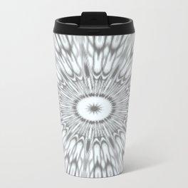 Gray Kaleidoscope Travel Mug