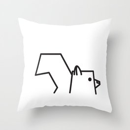 Minimalist Squirrel Throw Pillow