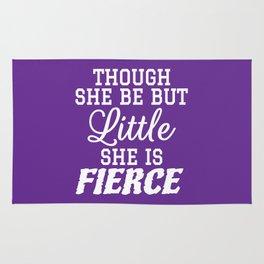 Little & Fierce (Purple) Rug