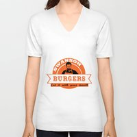 swanson V-neck T-shirts featuring Swanson Burgers by ThePencilClub
