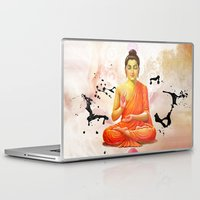 buddha Laptop & iPad Skins featuring Buddha by O. Be