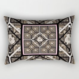 Cherokee Rose Pattern 1 brown and pink Rectangular Pillow