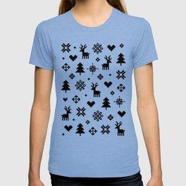 PIXEL PATTERN - WINTER FOREST T-shirt