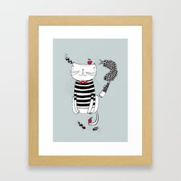 Happy in my harbour Framed Art Print