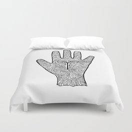 Aries Hand / Hamsa Duvet Cover