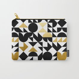 geometric black & gold Carry-All Pouch