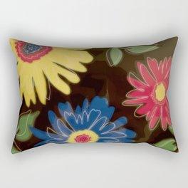 Pop Art Daisies Rectangular Pillow