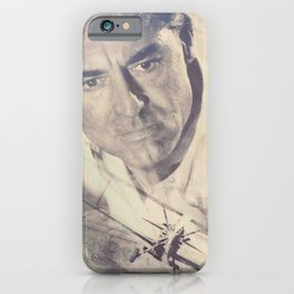 North by Northwest, Alfred Hitchcock, vintage movie poster, Cary Grant, minimalist iPhone Case