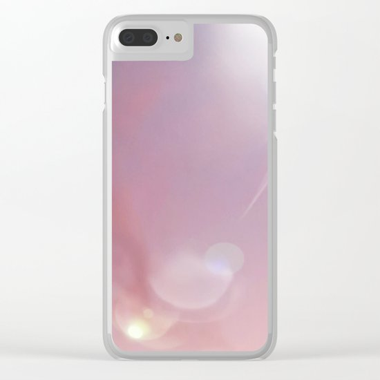 Pink Starlight Sky Clear iPhone Case