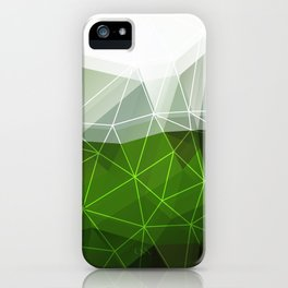 Green abstract background iPhone Case