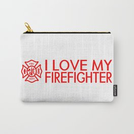 Firefighter: I Love My Firefighter (Florian Cross) Carry-All Pouch