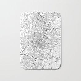 Austin White Map Bath Mat