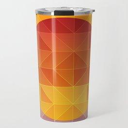 Poly design sunset illustration Travel Mug