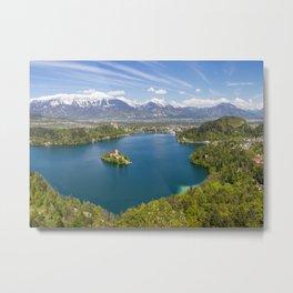 Lake Bled Metal Print