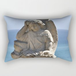 Angel and Cross on the Isle of Sicily Rectangular Pillow