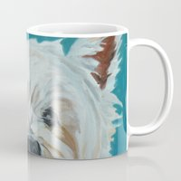 westie Mugs featuring Jesse the Beautiful Westie by Barking Dog Creations Studio