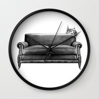 sofa Wall Clocks featuring Sofa King by sustici