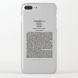 Dracula Bram Stoker First Page Clear iPhone Case