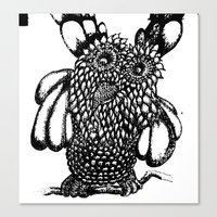 the who Canvas Prints featuring Who? by Yeshead