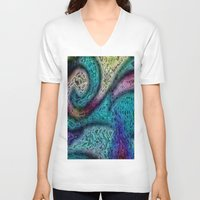 sofa V-neck T-shirts featuring Sahel Kazemi's Sofa III by RingWaveArt