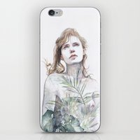 breathe iPhone & iPod Skins featuring Breathe in, breathe out by agnes-cecile