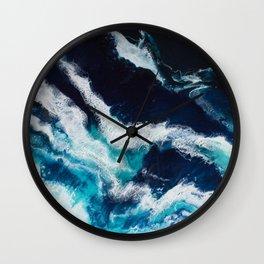 Crashing Abstract Painting Wall Clock