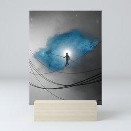 We walk a tightrope every day... Mini Art Print