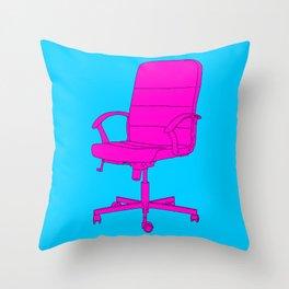 Desk Chair Throw Pillow