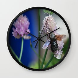 Carpenter Bee 1 Wall Clock