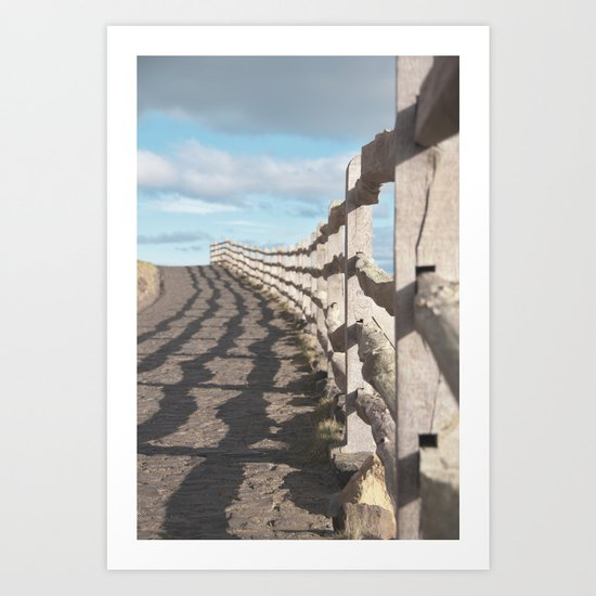 ragged wood... Art Print