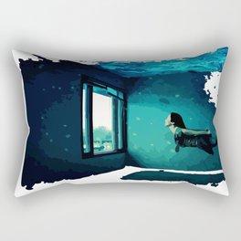 swimming room Rectangular Pillow