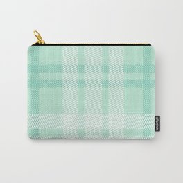 Mint Plaid Carry-All Pouch