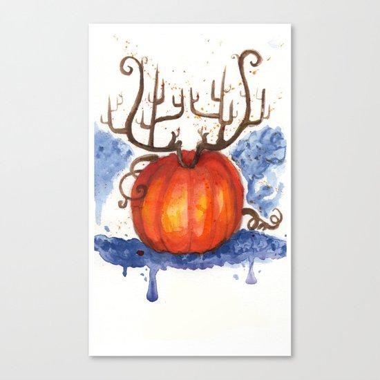 Deer Pumpkin Canvas Print