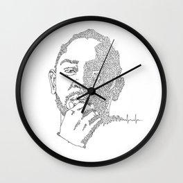 Kendrick Lamar Portrait: #blacklivesmatter Wall Clock