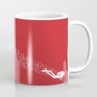 scuba Mugs featuring Scuba Diving by Lotecani