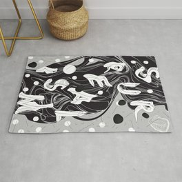 History of Art in Black and White. Surrealism Rug