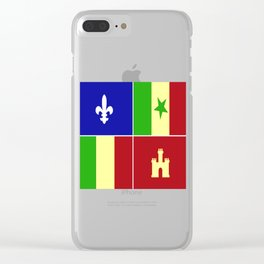 Louisiana Creole Heritage Clear iPhone Case