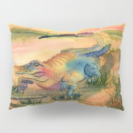 Alligator at Sunset  Pillow Sham
