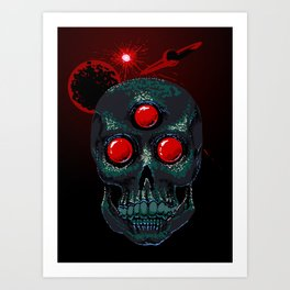 Horror From Beyond Time and Spaaaaaaace! Art Print
