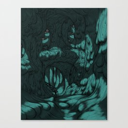 The Search for Pirx on Titan Canvas Print