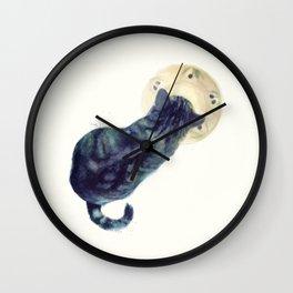 Kitten and Saucer Wall Clock