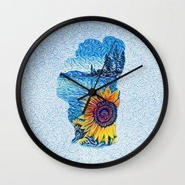 Tahoe Sunflower Wall Clock