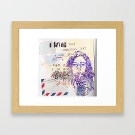 I wish you'd understand Framed Art Print