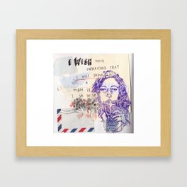 I wish you'd understand Framed Art Print