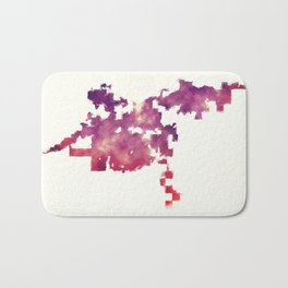 Bakersfield California city watercolor map in front of a white background Bath Mat