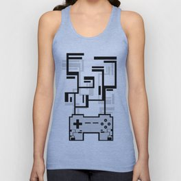 8-BIT JOYSTICK (GREY) Unisex Tank Top