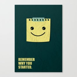 Lab No.4 -Remember Why You Started Business Quotes Poster Canvas Print