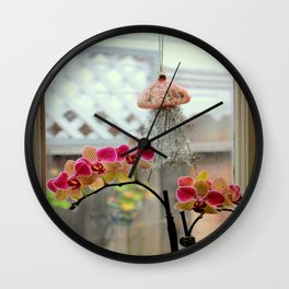 Tickled Pink And Yellow Wall Clock