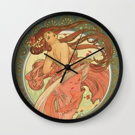 Dance - Alphonse Mucha Wall Clock